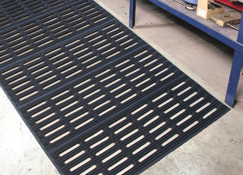 perforated mat for work stations